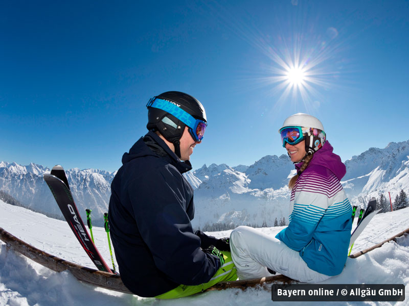 start in die skisaison im allg u. Black Bedroom Furniture Sets. Home Design Ideas